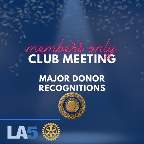 major donor recognition