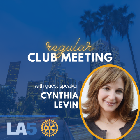 club meeting with speaker cynthia levin